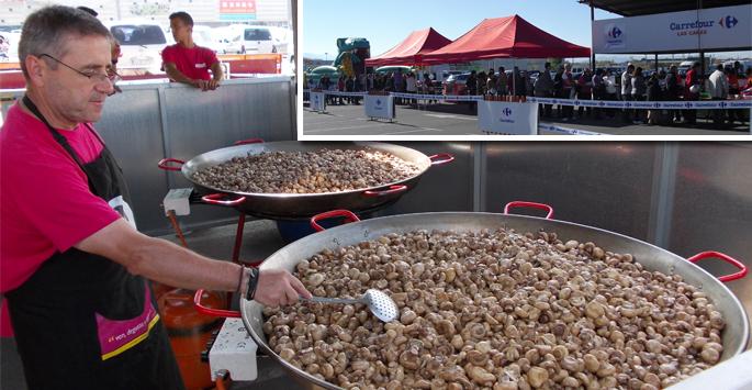 Gran éxito en la degustación de champi de Carrefour Las Cañas