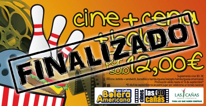 Cine + Cena + Bolos por sólo 12 euros