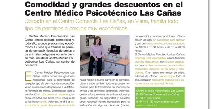 Comodidad y grandes descuentos en el Centro Médico Psicotécnico Las Cañas.