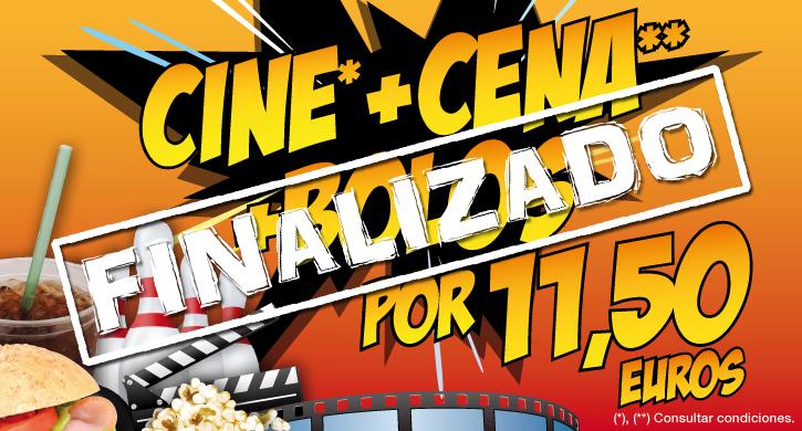 Todos los viernes Cine+Cena+Bolos por 11,50 euros