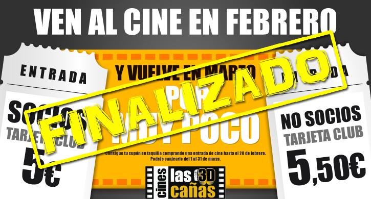 Ven al cine en febrero y vuelve en marzo por muy poco