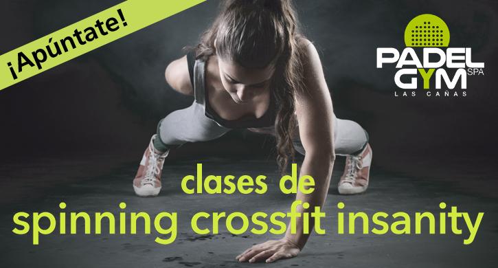 Padel Gym Las Cañas imparte clases de Spinning, Crossfit e Insanity