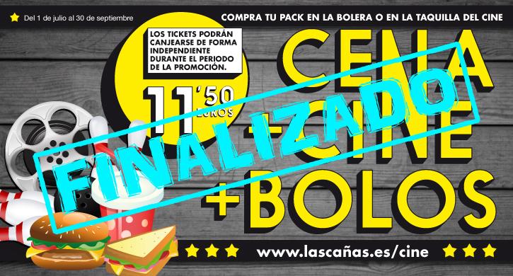 Cena + Cine + Bolos en el Parque Comercial Las Cañas