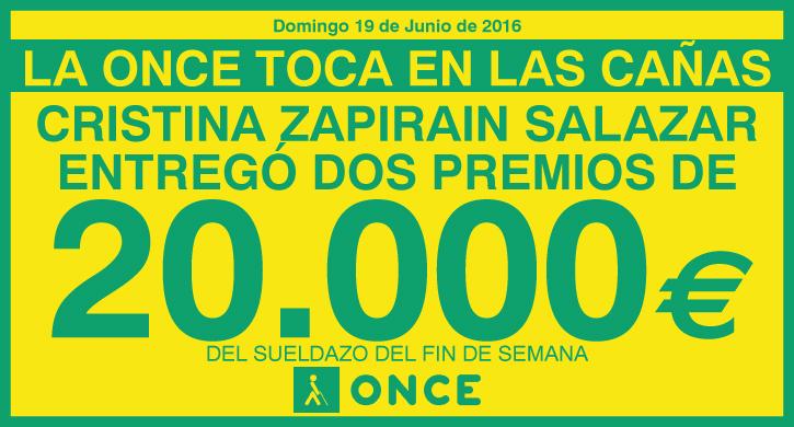 La ONCE reparte 40.000 euros en Las Cañas