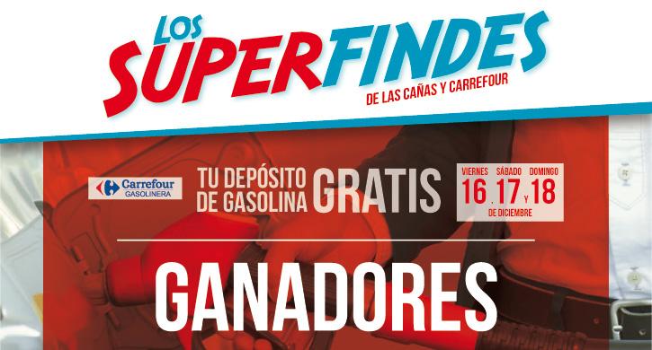 Ganadores Depósito de gasolina 16-17-18 Diciembre