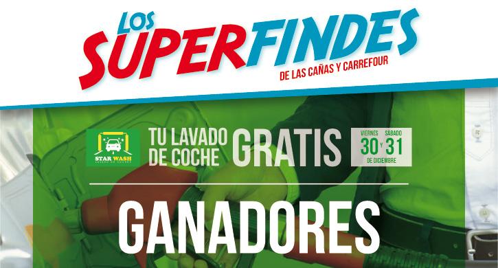 Superfindes Carrefour y Las Cañas 30 31 diciembre, lavado de coche