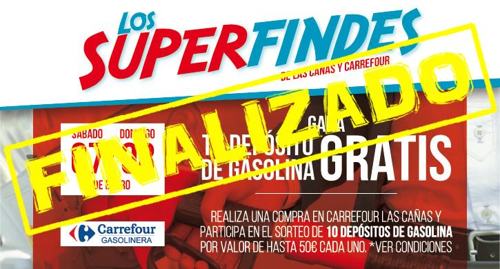 Superfindes Carrefour y Las Cañas 7 y 8 de enero, depósito de gasolina