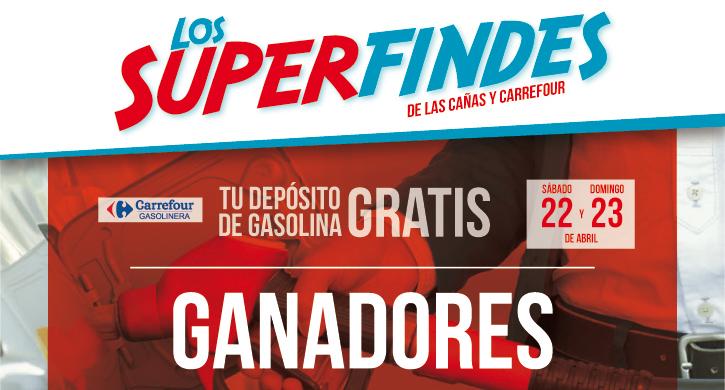 Ganadores Depósito de gasolina 24 de abril