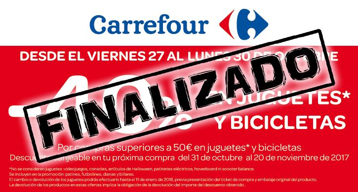 -40% en juguetes y bicicletas en Carrefour Las Cañas
