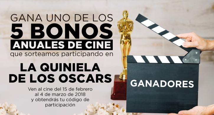 Ganadores de la Quiniela de los Oscars