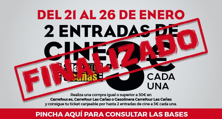 No te pierdas los chollos de Outlet Carrefour - Consigue tu entrada de cine a 3€ en Cines Las Cañas