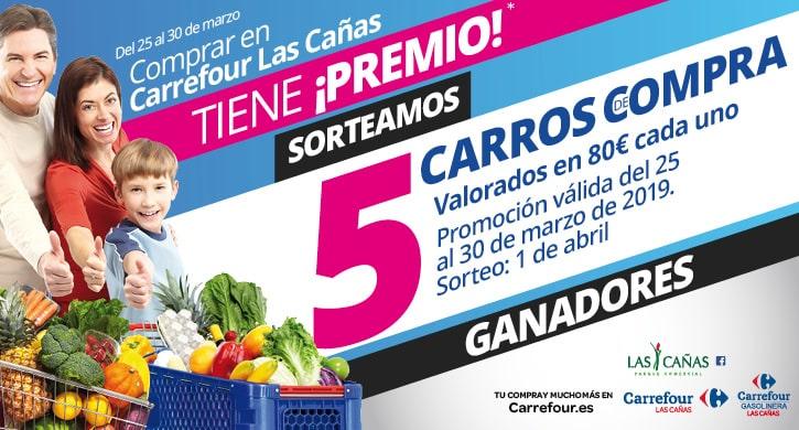Ganadores Comprar en Carrefour Las Cañas tiene ¡premio! - marzo